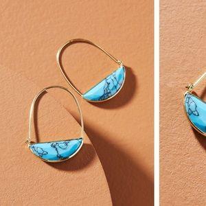 Anthropologie crescent hoop earring